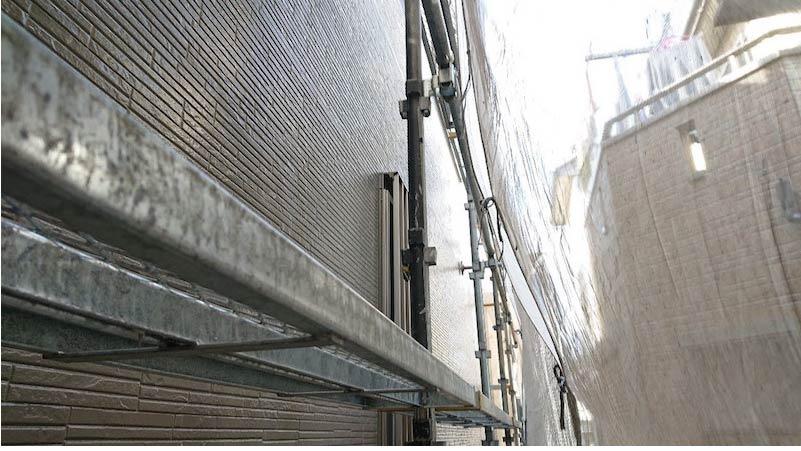 千葉県我孫子市の外壁塗装の中塗り