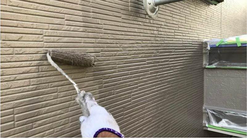 千葉県我孫子市の外壁塗装の上塗り