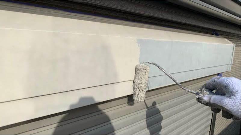 千葉県我孫子市のシャッターボックの塗装