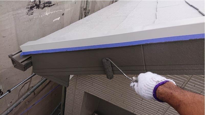 千葉県我孫子市の破風板の塗装