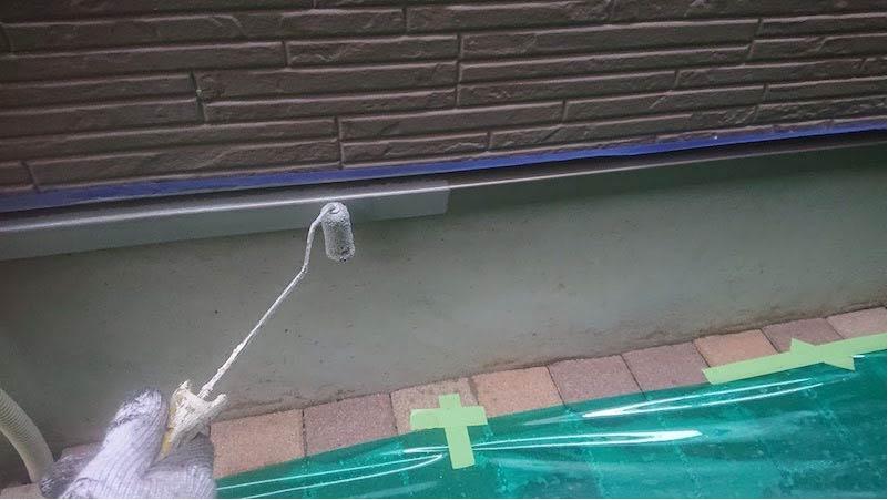 千葉県我孫子市の土台水切りの塗装
