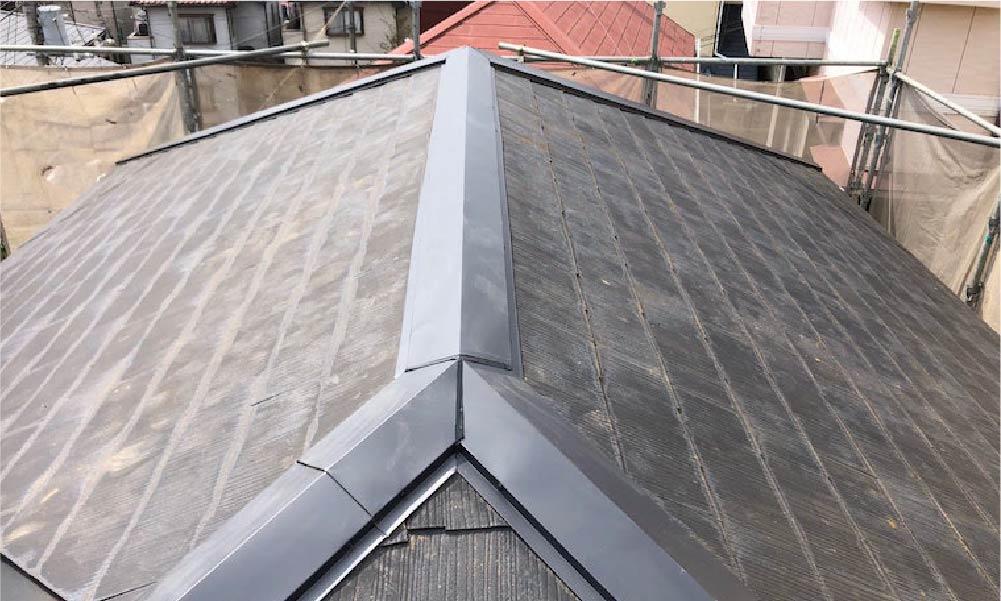 江戸川区の棟板金交換工事の施工事例
