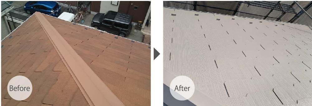 越谷市の外壁・屋根塗装工事のビフォーアフター