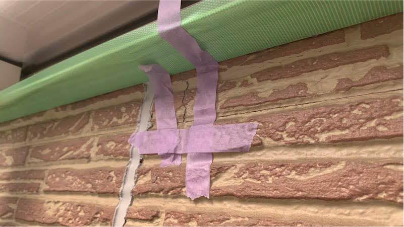 外壁塗装のひび割れの補修