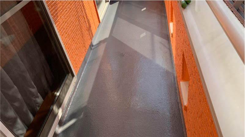 越谷市のベランダの防水塗装