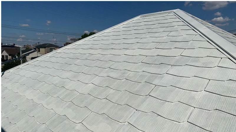 越谷市の屋根塗装の下塗り