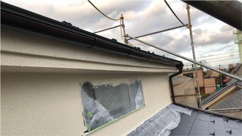 雨樋塗装の施工後の様子