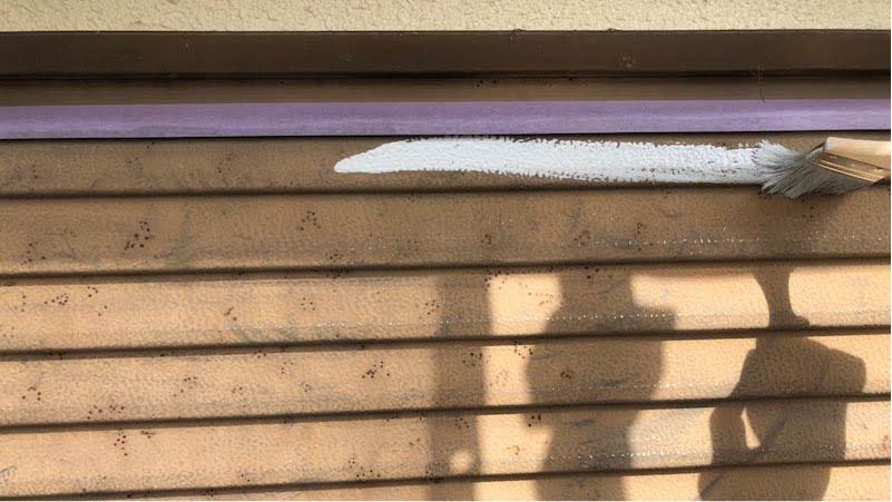雨戸の錆止め塗装
