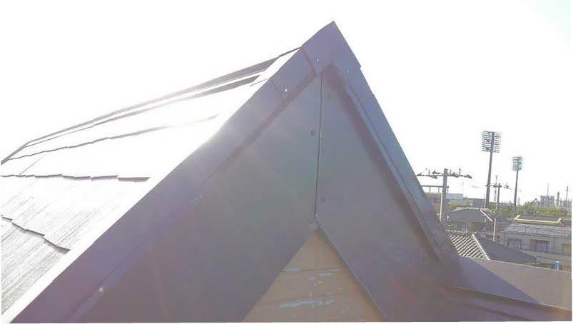 破風板金工事の施工後の様子