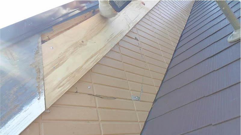 破風板の施工