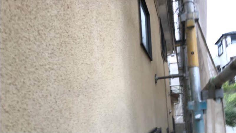 外壁の高圧洗浄後の様子