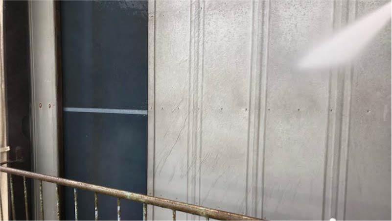 外壁塗装の洗浄