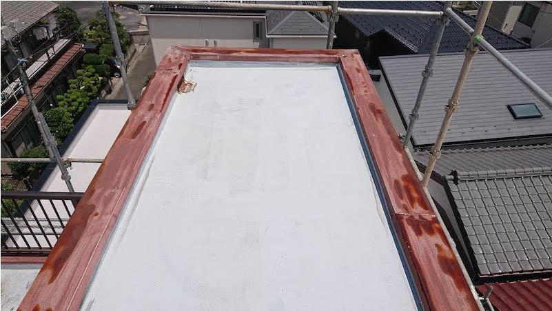 屋上防水の施工前の様子