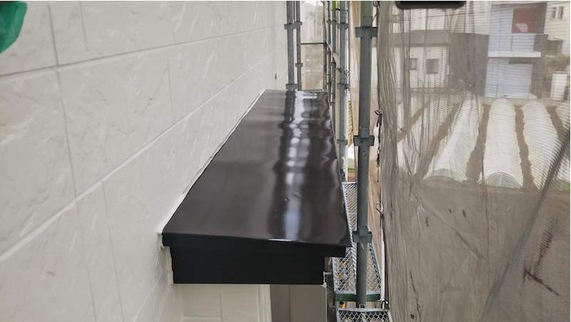 外壁塗装の霧避けの塗装