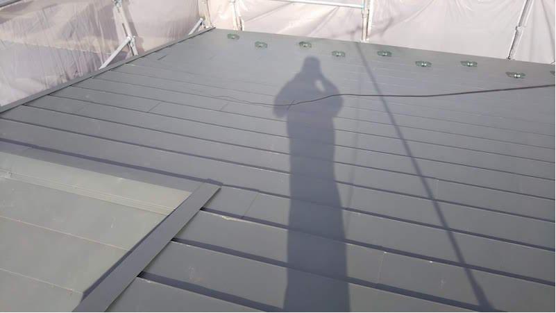 屋根葺き替え工事の施工後の様子