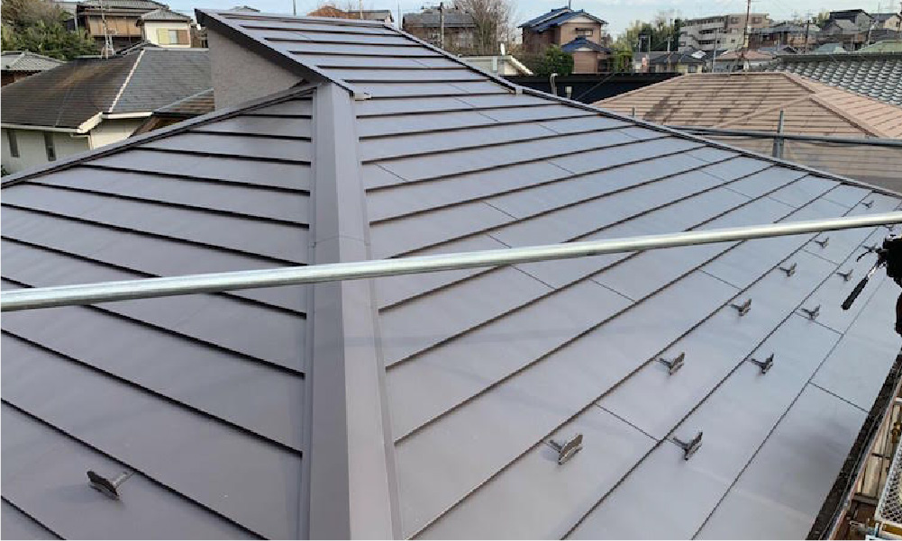 千葉県市原市の屋根カバー工法の施工事例