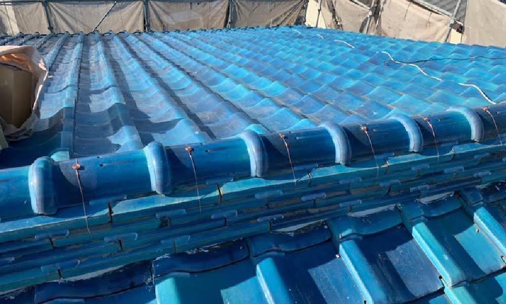 取手市の瓦屋根の修理