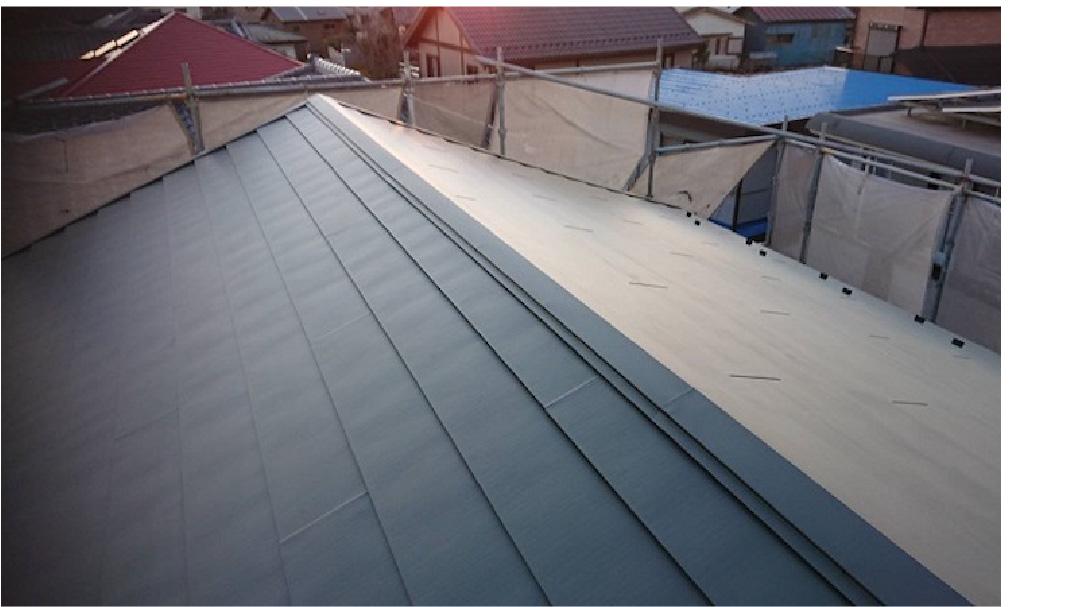鎌ヶ谷市の屋根葺き替え工事の施工事例