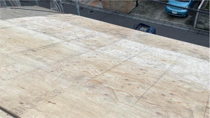 野地板(コンパネ)の施工