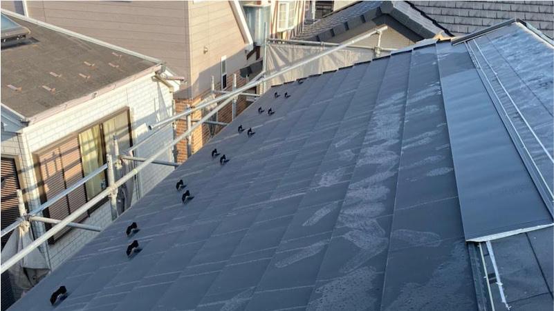 屋根本体の施工