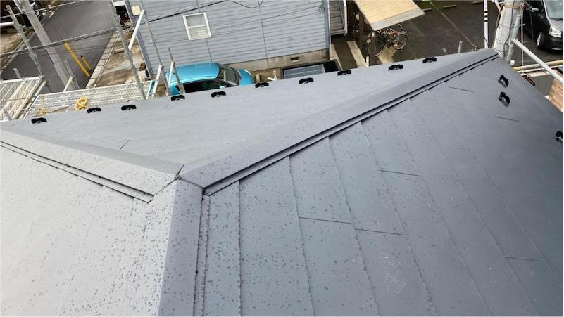 日本瓦の葺き替え工事の施工後の様子