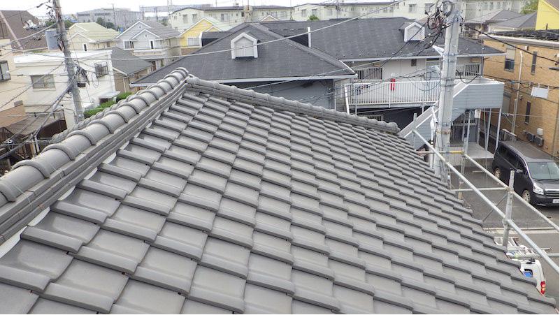 施工前の日本瓦屋根の状態