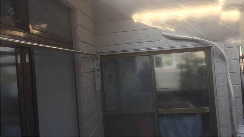 外壁のサイディング工事の施工後の様子
