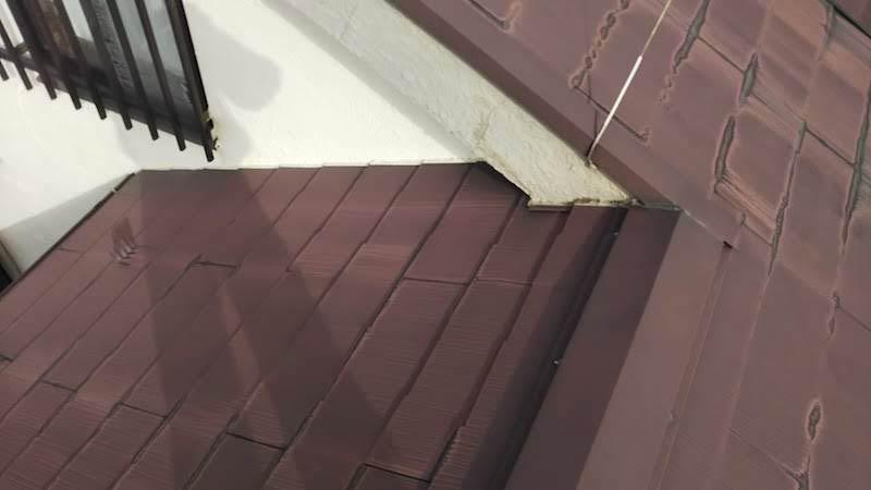 雨漏りが発生したスレート瓦