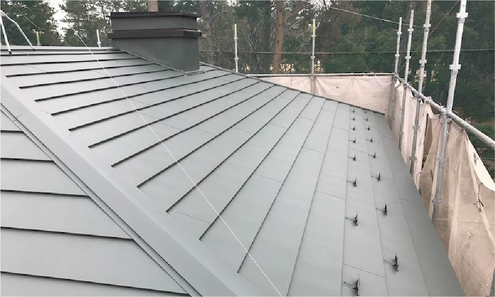 流山市の屋根葺き替え工事の施工事例