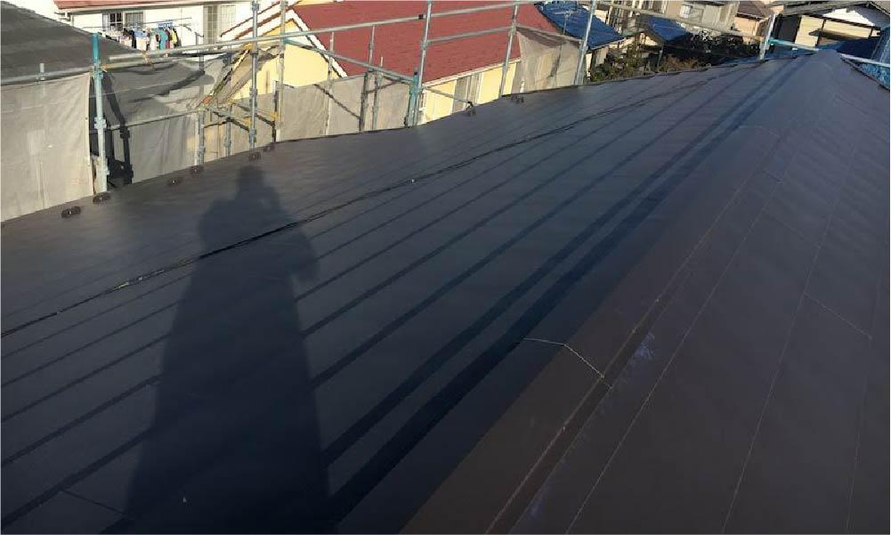 柏市の屋根葺き替え工事と外壁塗装工事の施工事例