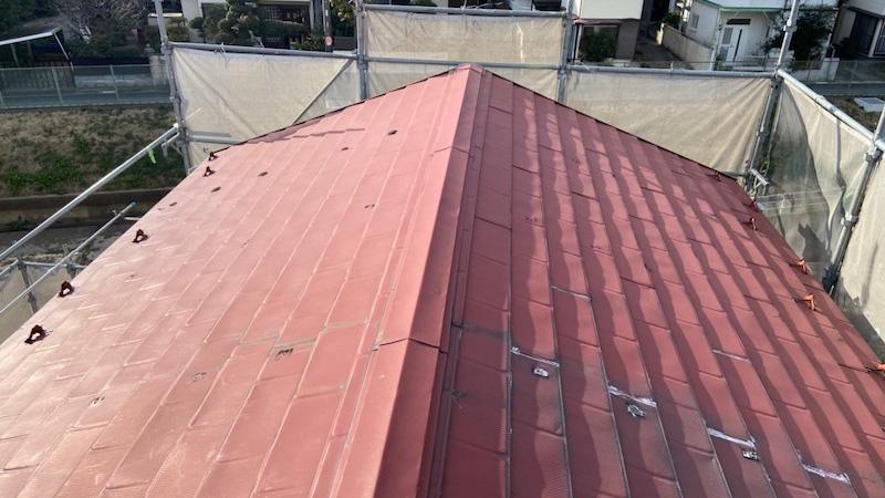 鎌ケ谷市の屋根の葺き替え工事の施工前の様子