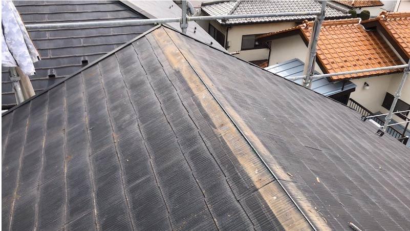柏市の屋根修理の棟板金の撤去