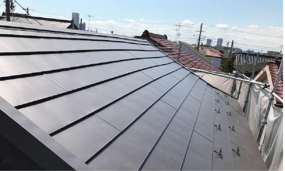 市川市の屋根の葺き替え工事
