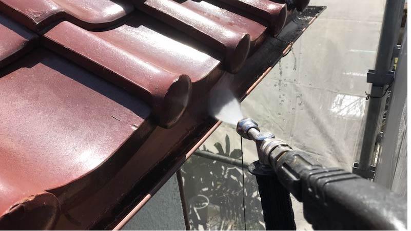 市川市の外壁塗装の高圧洗浄