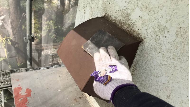 市川市の外壁塗装の下地調整