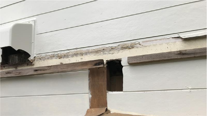 外壁材の解体