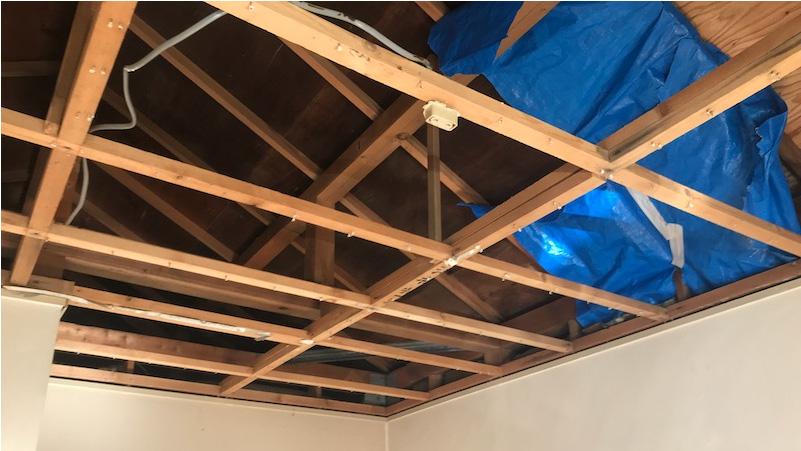 室内の雨漏り修理