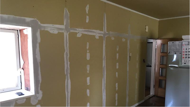 室内壁の施工