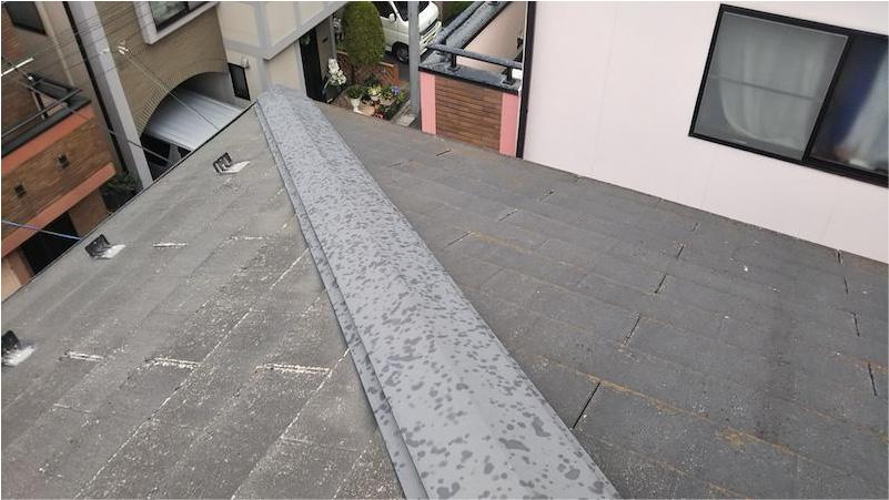 板橋区の屋根塗装の施工前の様子