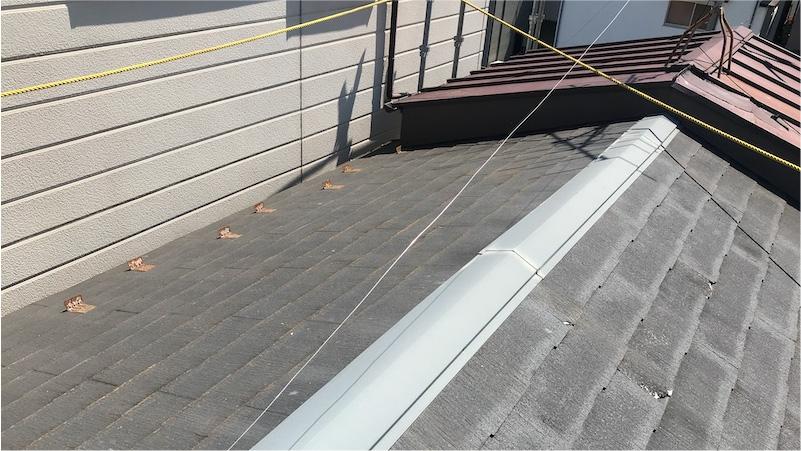 江戸川区の屋根葺き替え工事の施工前の様子