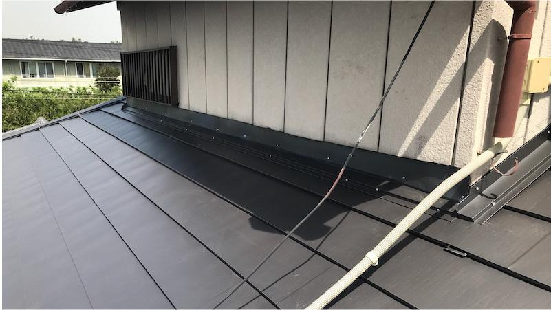 ガルバリウム鋼板施工後の様子