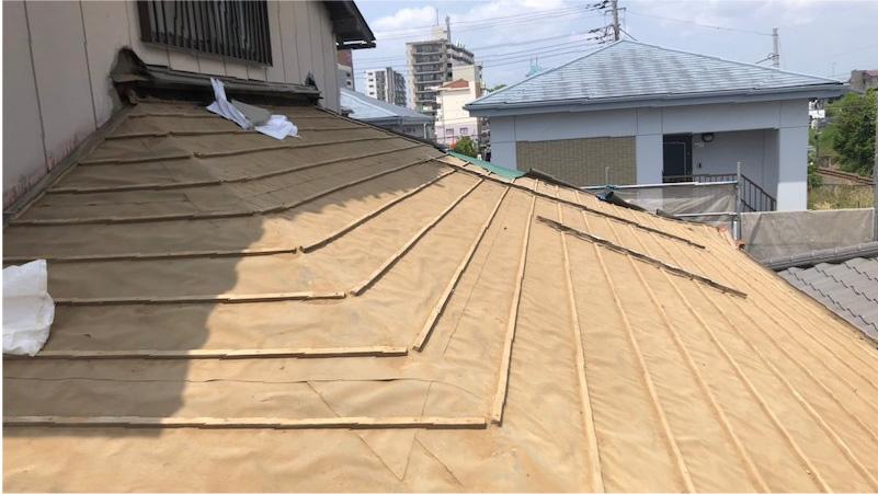 瓦おろし後の屋根の様子