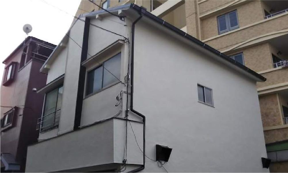 江戸川区の屋根葺き替え工事・外壁塗装の施工後の写真