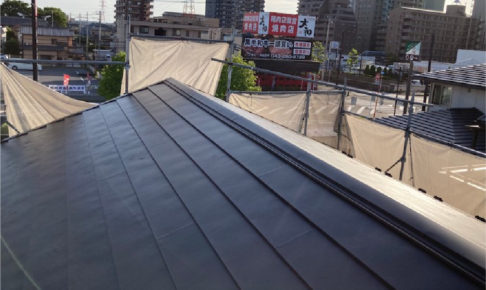 市原市の屋根葺き替え工事の施工事例