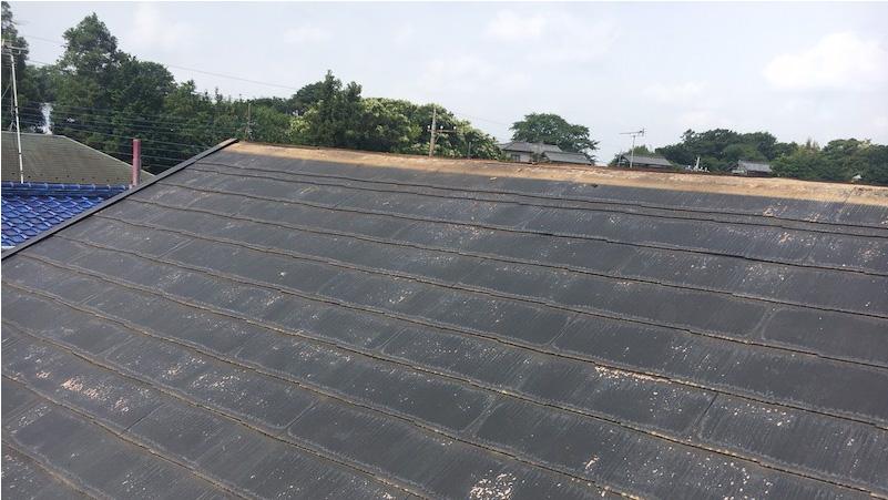スレート屋根の屋根板金の撤去