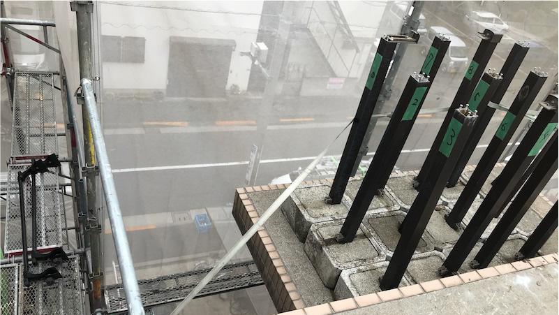 屋上の手すりの撤去・解体