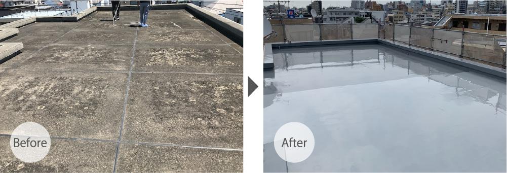 市川市の大規模修繕の屋上防水工事