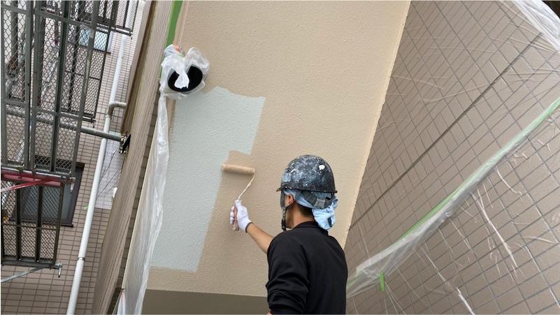 外壁のモルタルの塗装