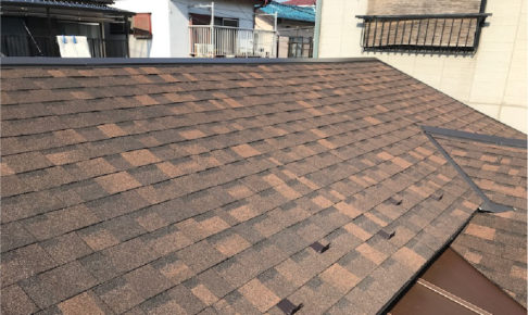 千葉県船橋市のアスファルトシングル屋根の葺き替え工事