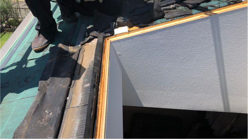 天窓の撤去